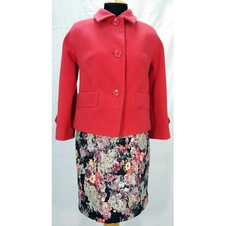 Комплект жакет из кашемира и платье-футляр